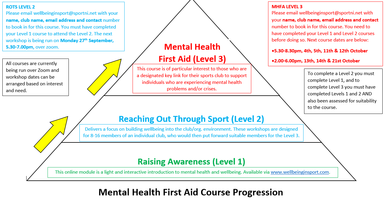 Mental Health First Aid Course Progression